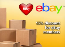 We love Ebay. 10% discount for Ebay members